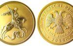 Золотая монета Георгий Победоносец: цена в Cбербанке на 50 рублей сегодня, график динамики роста в 2019 году