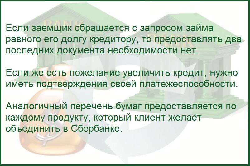 Информация об увеличении кредита в Сбербанке