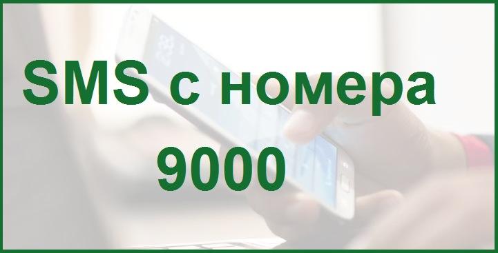 слайд на тему СМС с номера 9000