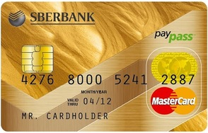 mastercard gold sberbank