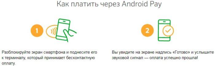 Как оплачивать услуги через Android Pay