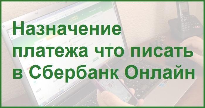 Слайд презентации на тему назначения платежа сервиса Сбербанк Онлайн
