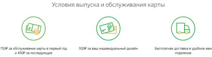 Условия обслуживания карты Сбербанка с индивидуальным дизайном